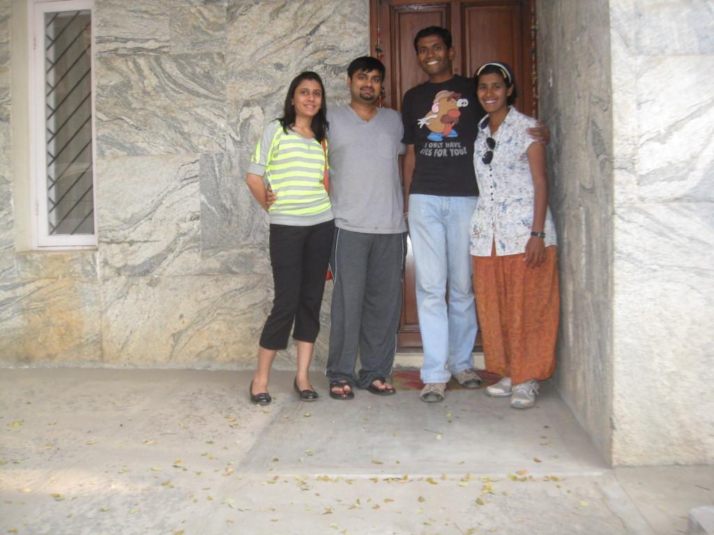 with Karan and Jeenal