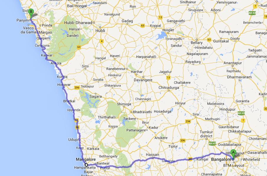 coastal train route to Goa